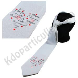 cravate personnalisee pour demande en mariage