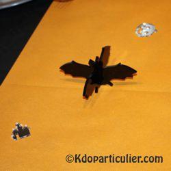 Décoration d'Halloween: chauve-souris en plexiglas noir