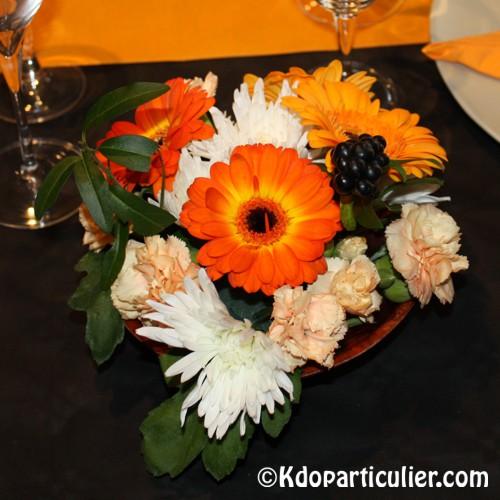 Décoration d'Halloween: bouquet de fleurs