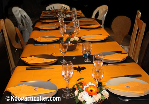 D coration de table sur le th me d 39 halloween blog - Decoration de halloween ...