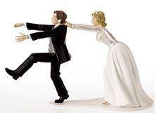 figurine de mariés humoristique