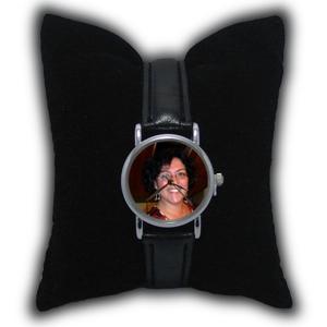 montre personnalisée femme avec bracelet cuir