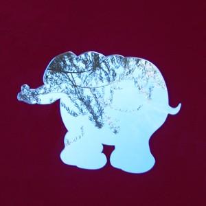 sticker miroir éléphant
