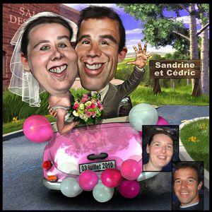 caricature de couples mise en scène