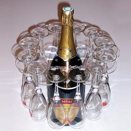 Support pour flûtes à champagne