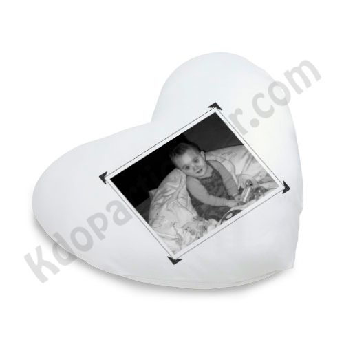 Le coussin personnalis en forme de coeur - Tete de lit en forme de coeur ...