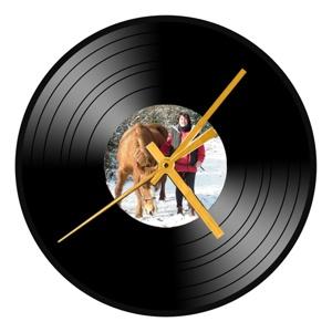 horloge personnalisée photo sur disque vinyl