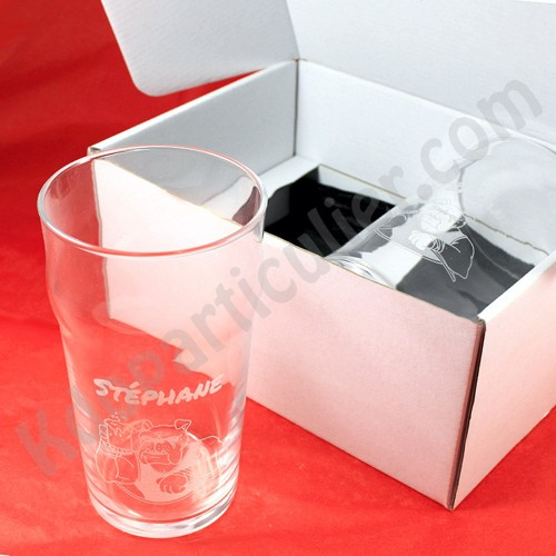 coffret duo de mousse de deux verres bi re personnalis s. Black Bedroom Furniture Sets. Home Design Ideas