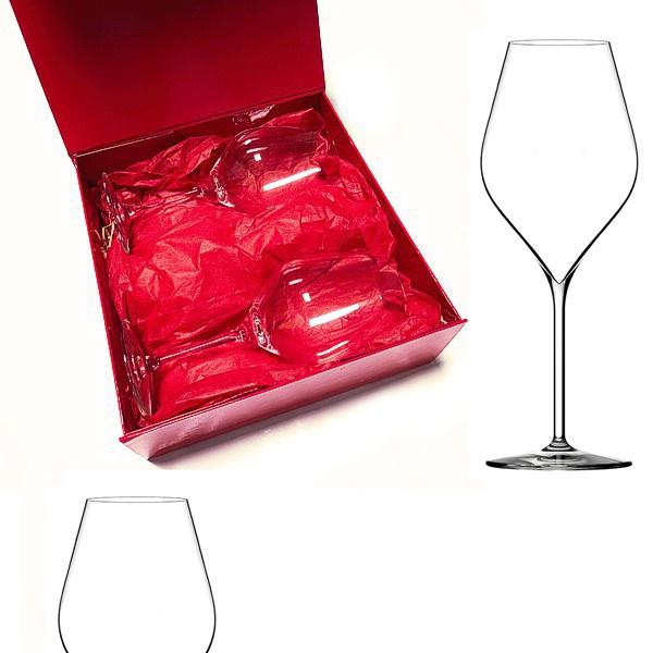 coffret cadeau compos de 2 verres vin cristallin de d gustation. Black Bedroom Furniture Sets. Home Design Ideas