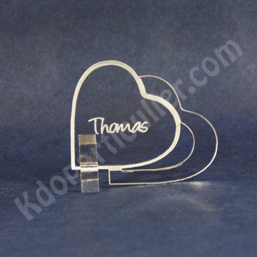 marque place marque place mariage en forme de coeur. Black Bedroom Furniture Sets. Home Design Ideas