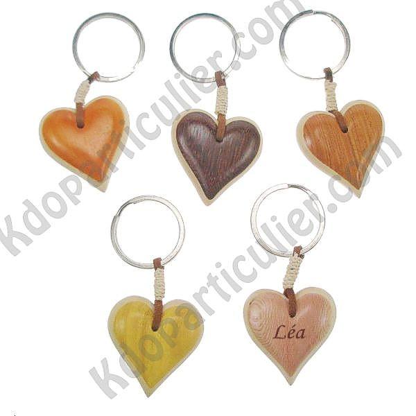 Id e cadeau amour pas ch re porte cl s marqueterie - Porte cles en bois ...