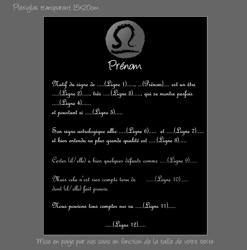 Porte ch/équier porte carte en cuir noir Signe Zodiaque Astrologique Cancer