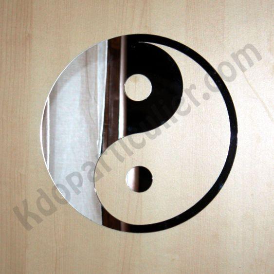Chambre Pour Garcon Vert :  philosophie chinoise, ce sticker miroir représente le yin et le yang