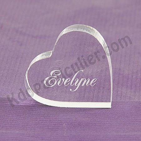marque place mariage en forme de coeur