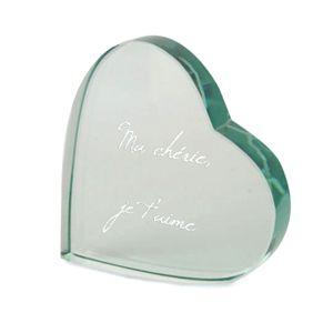 Coeur en verre pour déclaration d amour. Coffret Cadeau Champagne 3b048c78352