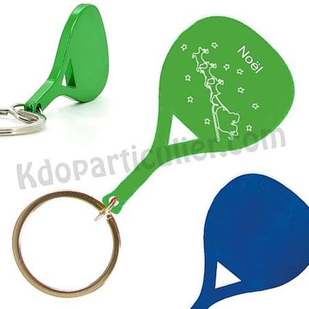 porte-clé personnalisé en forme de raquette, encadeau souvenir de Noël 2013