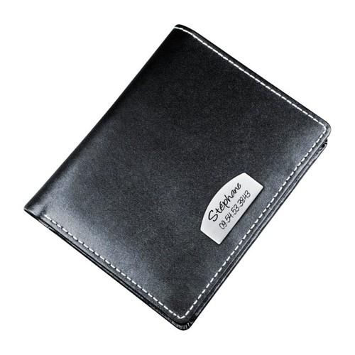 portefeuille personnalisé cuir