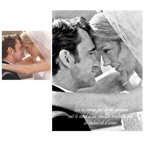 portrait personnalisé mariés façon fusain