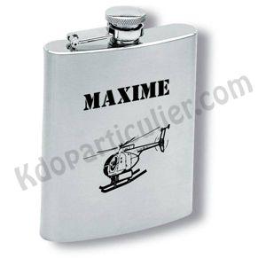 flasque alcool inox personnalisée