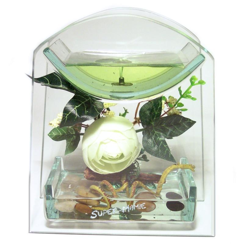 une id e de cadeau personnalis petite d co fleur bougie personnalis. Black Bedroom Furniture Sets. Home Design Ideas