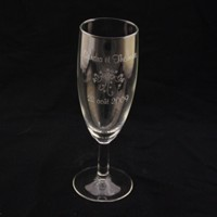 flute de champagne gravée