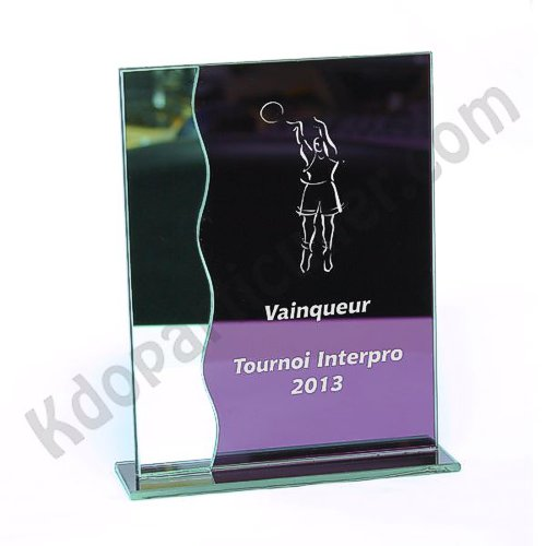 Trophée verre miroir rectangle