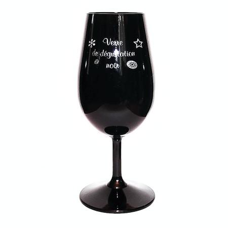 verre de dégustation noir en cristallin